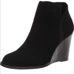 Lucky Brand yimme suede leather ankle boots sz 10